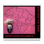 Going AFRICA Red Tile Coaster