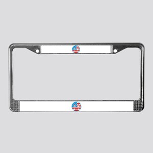 USA Happy Face License Plate Frame