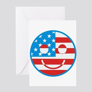 USA Happy Face Greeting Card