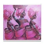 3 Sistas Pink Tile Coaster