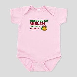 Funny Welsh flag designs Infant Bodysuit