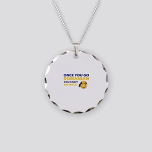 Funny Romanian flag designs Necklace Circle Charm