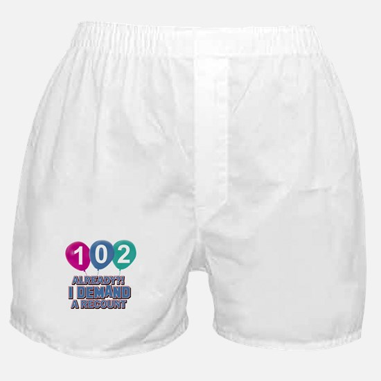 102 year old ballon designs Boxer Shorts