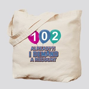 102 year old ballon designs Tote Bag