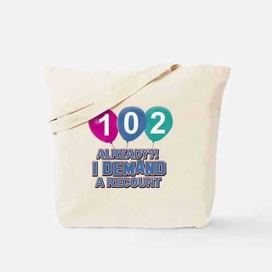 102 year old ballon designs Tote Bag