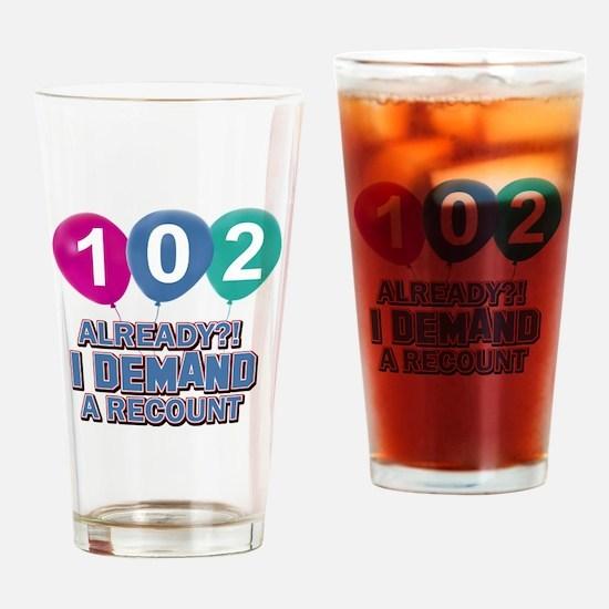 102 year old ballon designs Drinking Glass