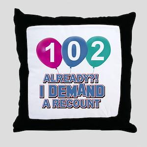 102 year old ballon designs Throw Pillow