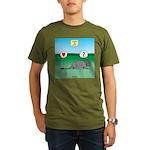 Pill Bug and Armadillo Organic Men's T-Shirt (dark