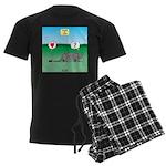 Pill Bug and Armadillo Men's Dark Pajamas