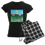 Pill Bug and Armadillo Women's Dark Pajamas