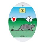 Pill Bug and Armadillo Ornament (Oval)