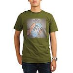 Water Nutritional Value Organic Men's T-Shirt (dar