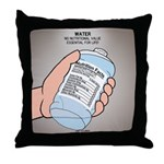 Water Nutritional Value Throw Pillow