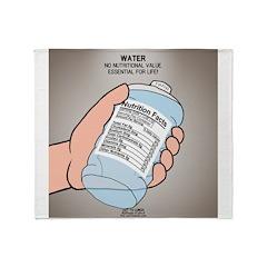 Water Nutritional Value Throw Blanket