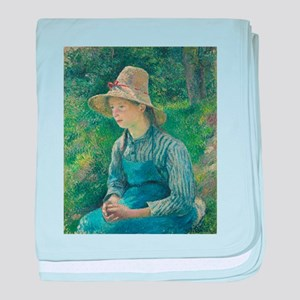Camille Pissarro - Peasant Girl with a Staw Hat -