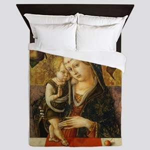 Carlo Crivelli - Madonna and Child Queen Duvet