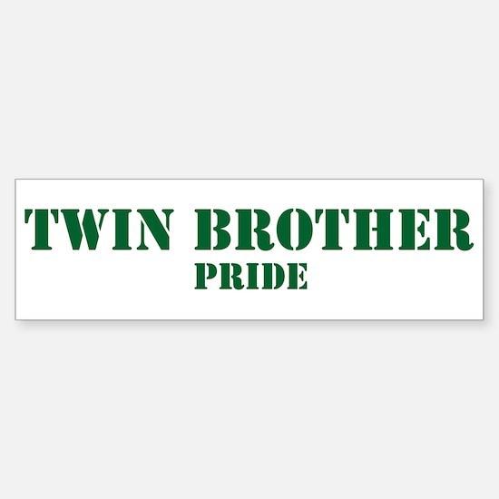 Twin Brother Pride Bumper Bumper Bumper Sticker