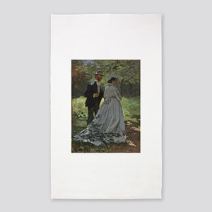 Claude Monet - Bazille and Camille 3'x5' Area Rug