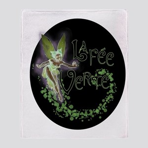 Dark Absinthe Fairy Throw Blanket