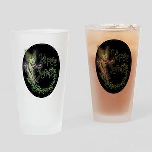 Dark Absinthe Fairy Drinking Glass