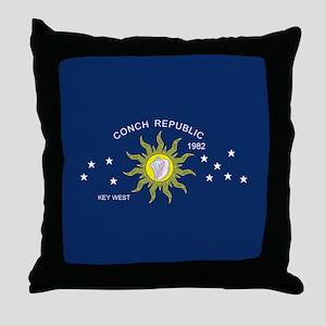 Conch Republic Flag Throw Pillow