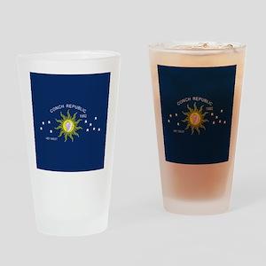 Conch Republic Flag Drinking Glass