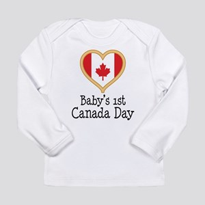 Babys 1st Canada Day Long Sleeve T-Shirt