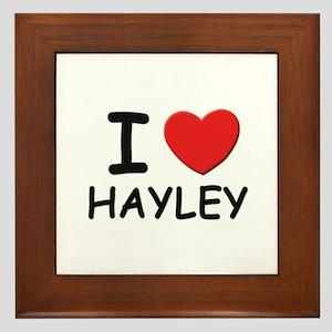 I love Hayley Framed Tile