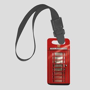 British Red Telephone Box Small Luggage Tag