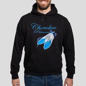 Turquoise Cherokee Princess Hoodie (dark)
