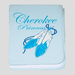 Turquoise Cherokee Princess baby blanket