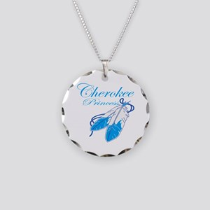 Turquoise Cherokee Princess Necklace Circle Charm