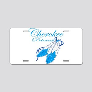 Turquoise Cherokee Princess Aluminum License Plate