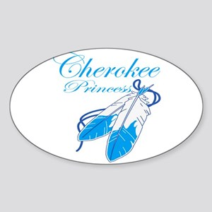 Turquoise Cherokee Princess Sticker (Oval)