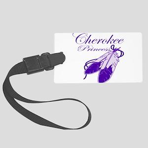 Purple Cherokee Princess Large Luggage Tag