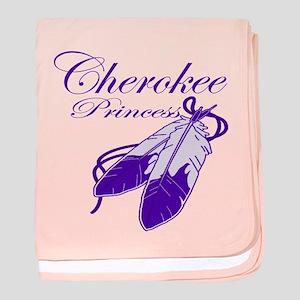 Purple Cherokee Princess baby blanket