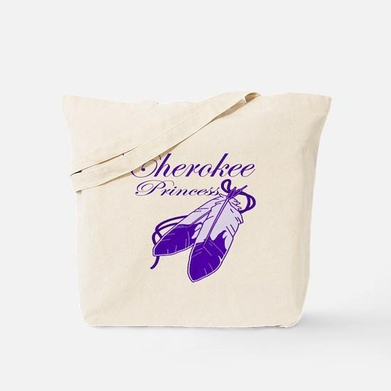 Purple Cherokee Princess Tote Bag