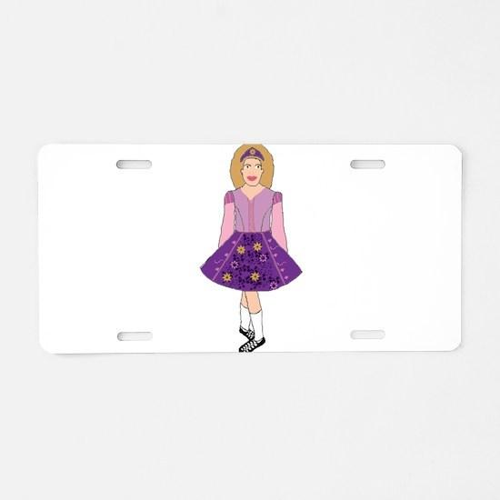 Tangled in Dance Aluminum License Plate