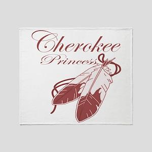 Pink Cherokee Princess Throw Blanket