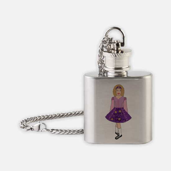 Tangled in Dance Flask Necklace