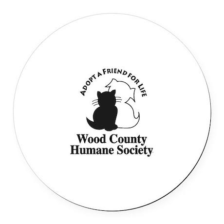 WCHS Logo Round Car Magnet