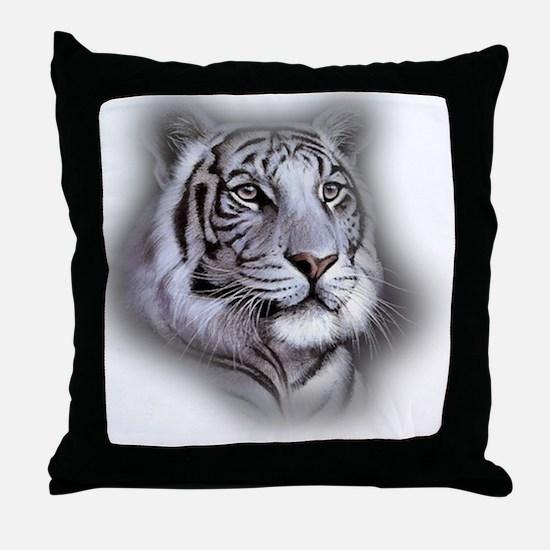 Cute White tiger Throw Pillow