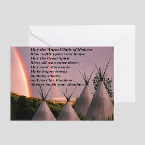 Cherokee Blessing Prayer Greeting Cards (Pk of 10)