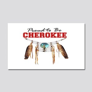 Proud to be Cherokee Car Magnet 20 x 12