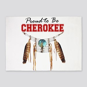 Proud to be Cherokee 5'x7'Area Rug