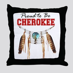Proud to be Cherokee Throw Pillow