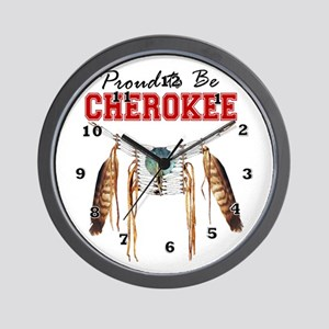 Proud To Be Cherokee Wall Clock