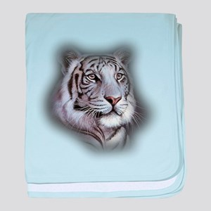 White Tiger Face baby blanket