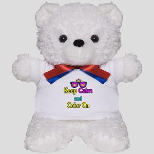 Crown Sunglasses Keep Calm And Color On Teddy Bear