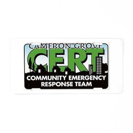 CAMERON GROVE Aluminum License Plate